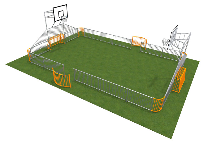 Playground sports equipment for schools
