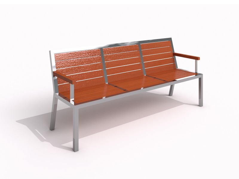 Stainless steel bench 07 PLAYGROUNDS
