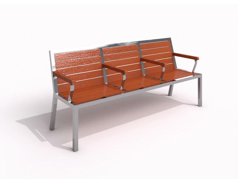 Stainless steel bench 08 PLAYGROUNDS