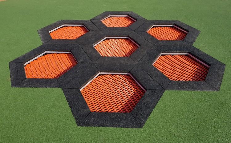 Playground Equipment Product trampoline HEXO Inter Play