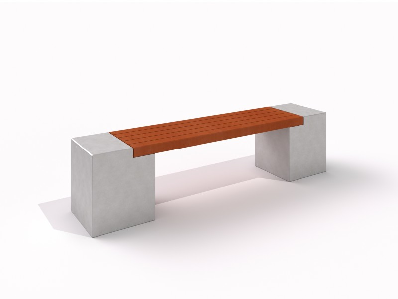 DECO concrete white bench 5 Place zabaw