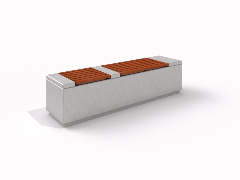 DECO white concrete bench 1 Place zabaw