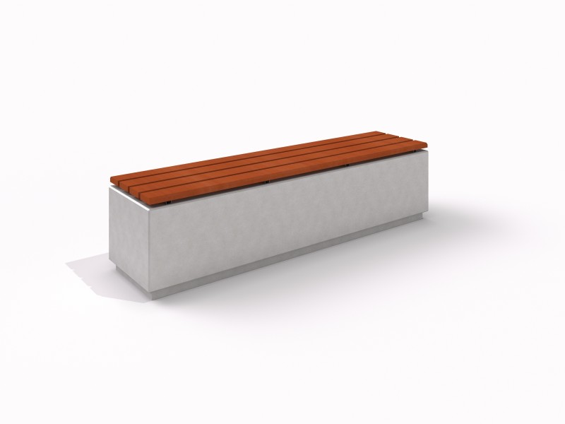 DECO white concrete bench 3 Place zabaw