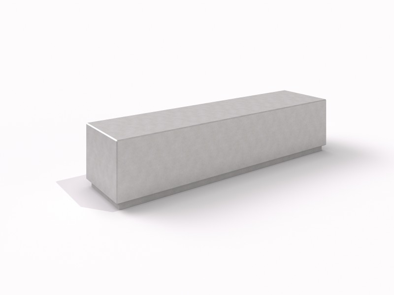 DECO white concrete bench 2 Place zabaw
