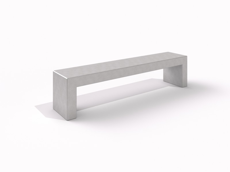 DECO white concrete bench 7 Place zabaw