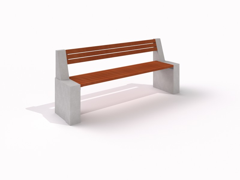 DECO white concrete bench 8 Place zabaw