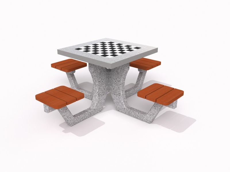 Concrete table for chess - checkers 03 PLAYGROUNDS