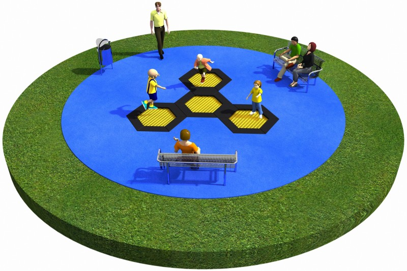 Playground Equipment for sale Trampolines  Layout 21 Professional manufacturer
