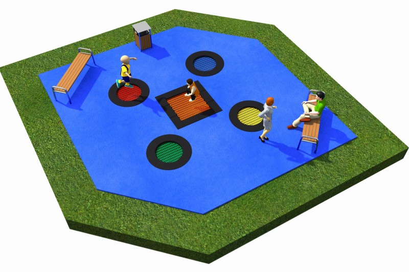 Playground Equipment for sale Trampolines  Layout 11 Professional manufacturer
