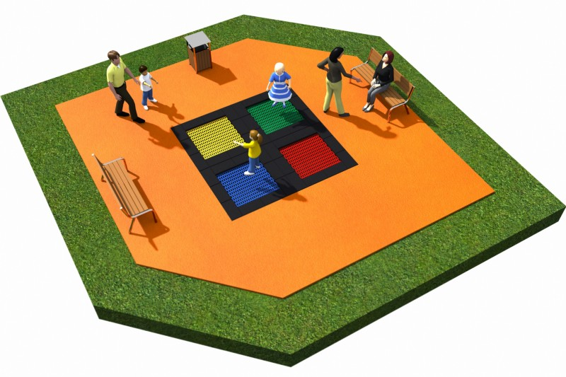 Playground Equipment for sale Trampolines  Layout 17 Professional manufacturer