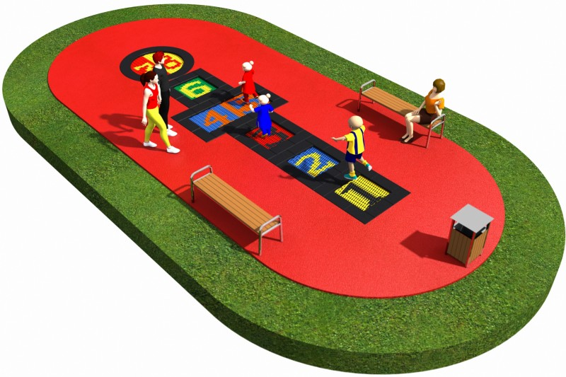 Playground Equipment for sale Trampolines  Layout 18 Professional manufacturer