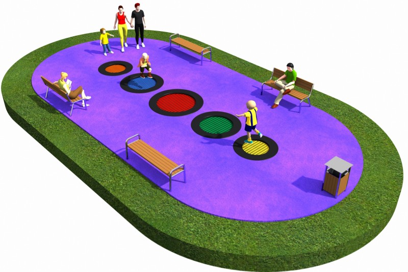 Playground Equipment for sale Trampolines  Layout 19 Professional manufacturer