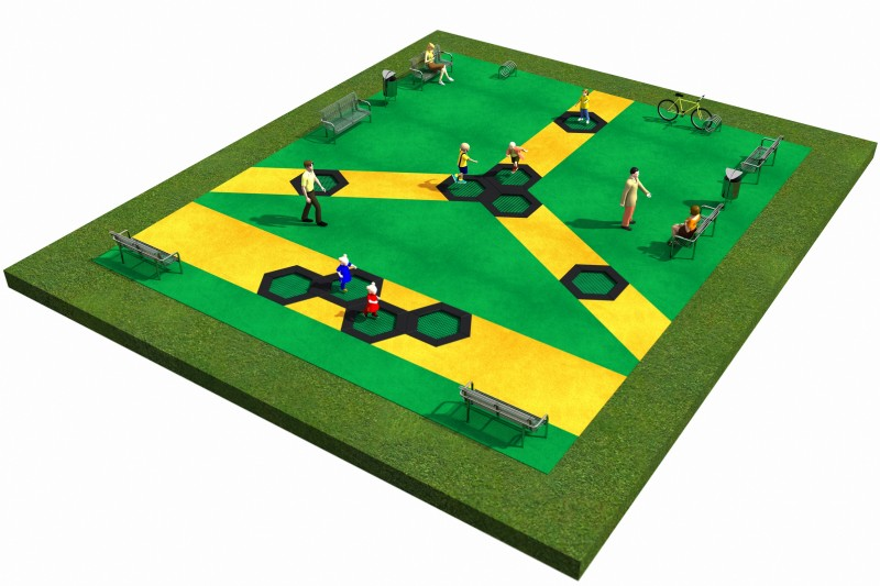 Playground Equipment for sale Trampolines  Layout 10 Professional manufacturer