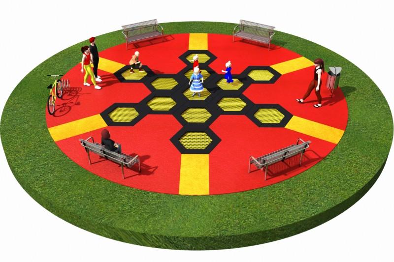 Playground Equipment for sale Trampolines  Layout 4 Professional manufacturer