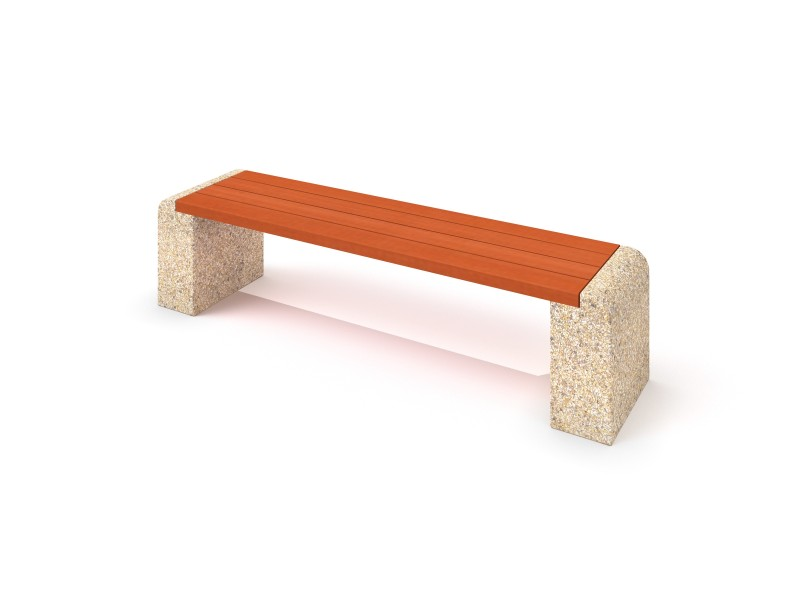 Playground Equipment for sale Concrete bench 05 Professional manufacturer