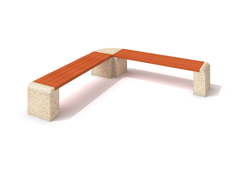 Playground Equipment for sale Concrete bench 02 Professional manufacturer