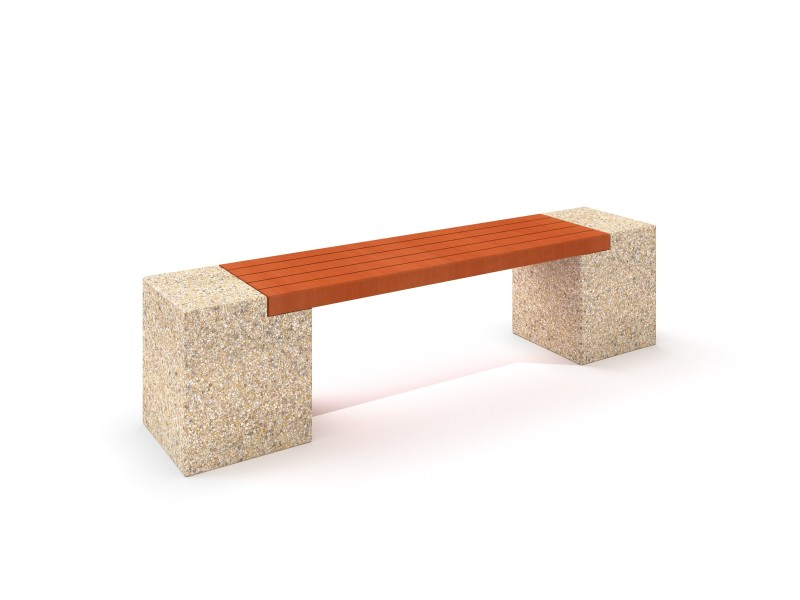 Playground Equipment for sale Concrete bench 07 Professional manufacturer