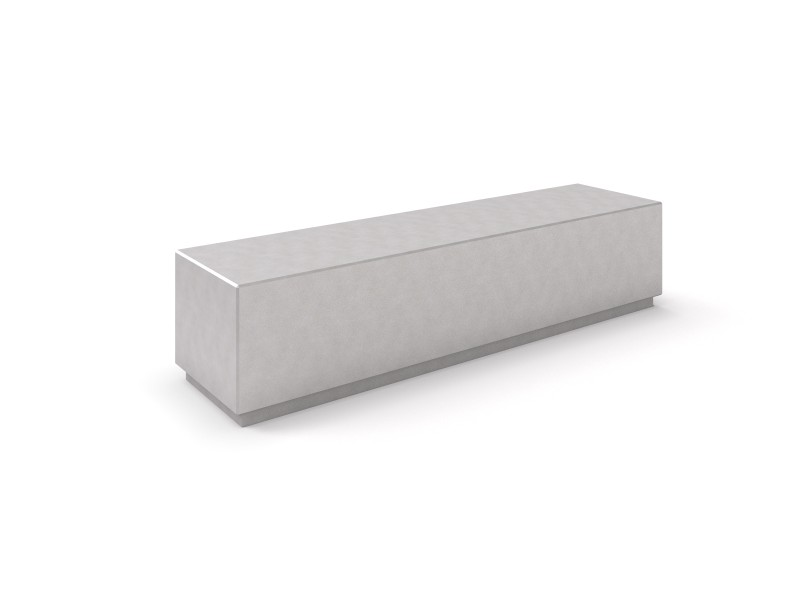 DECO white concrete bench 4 PLAYGROUNDS