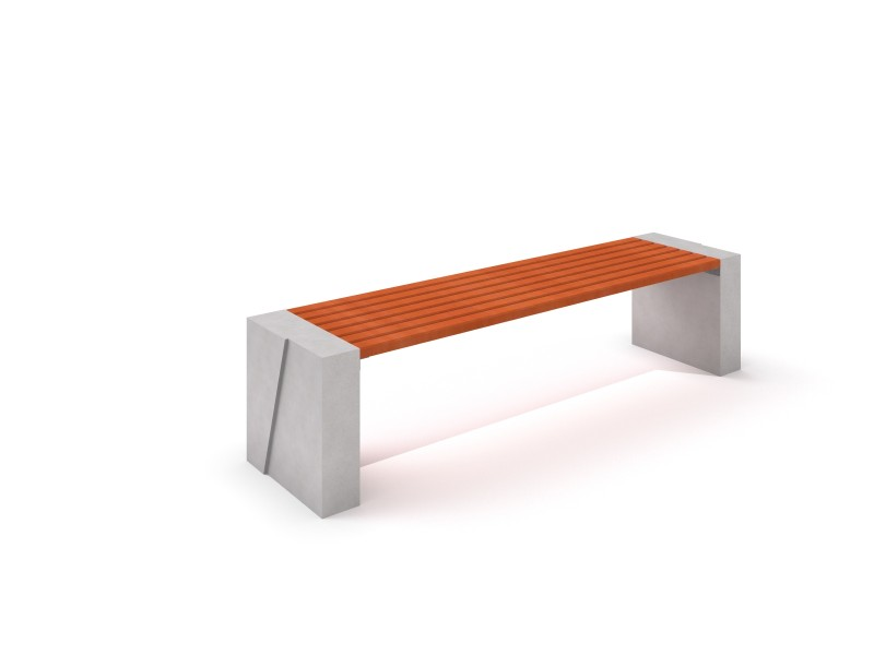 DECO white concrete bench 10