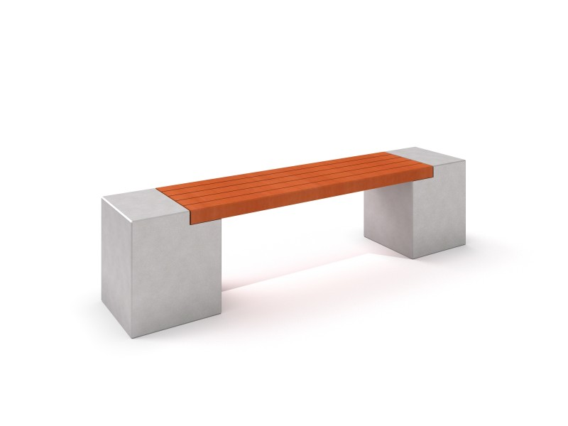 DECO white concrete bench 11