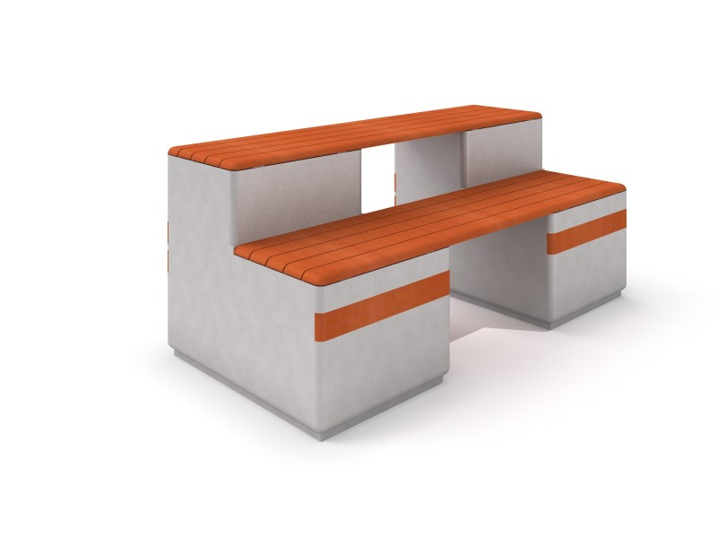 DECO white concrete bench 12