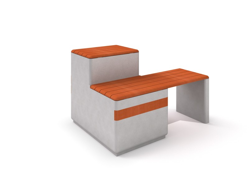 DECO white concrete bench 12 PLAYGROUNDS