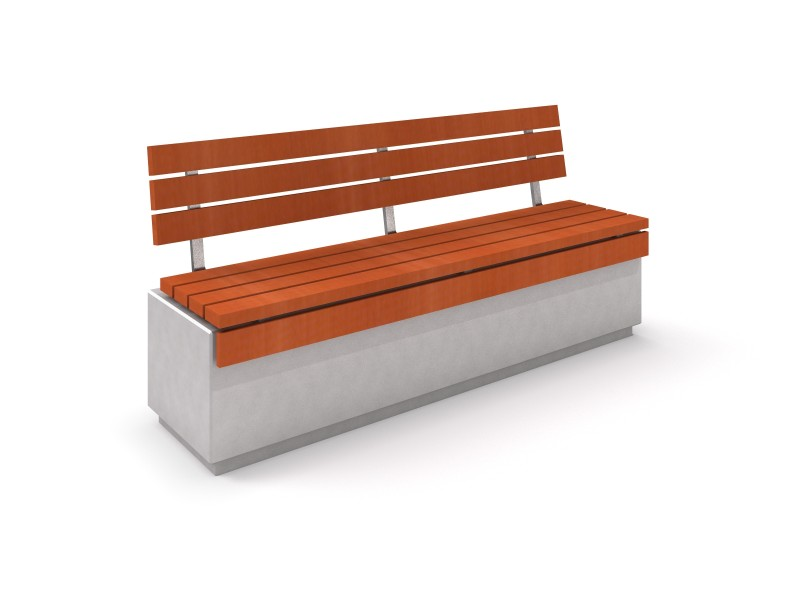 DECO white concrete bench 1