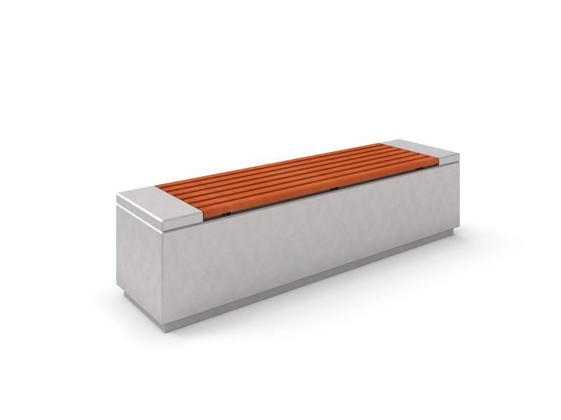 DECO white concrete bench 1 PLAYGROUNDS