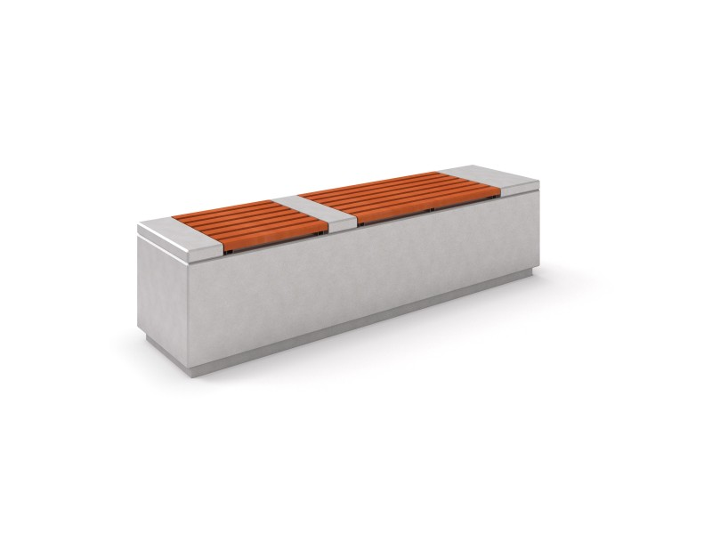 DECO white concrete bench 2 PLAYGROUNDS