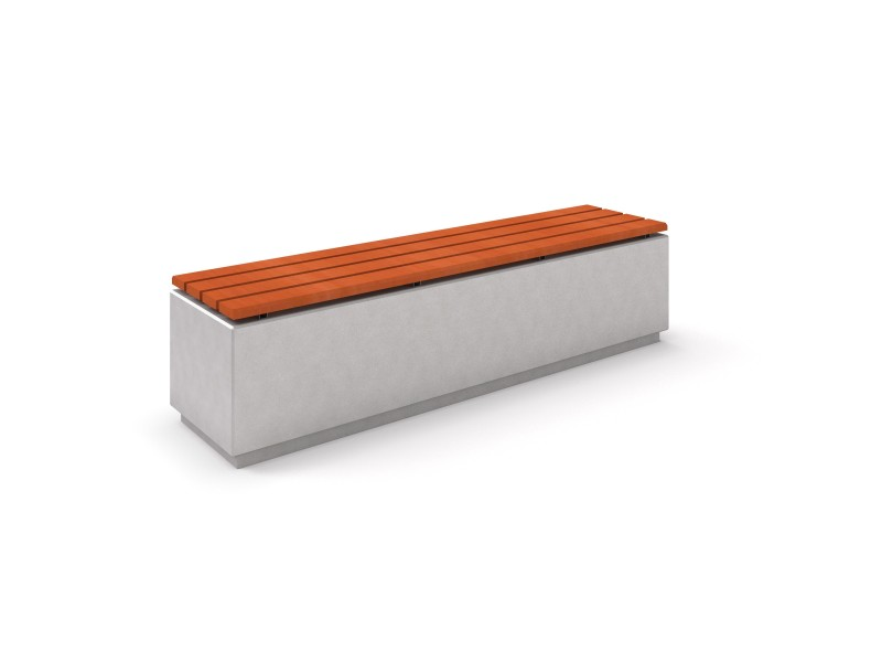 DECO white concrete bench 3 PLAYGROUNDS
