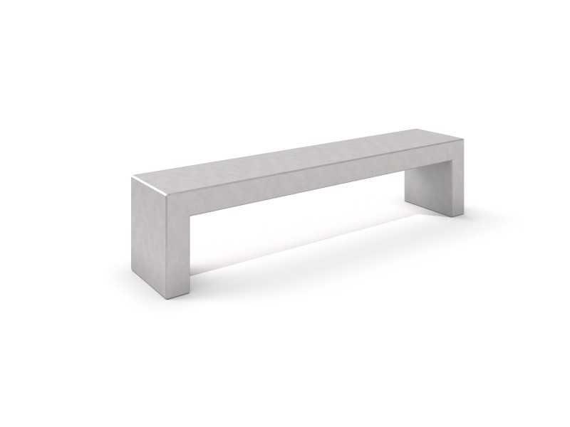 DECO white concrete bench 7 PLAYGROUNDS