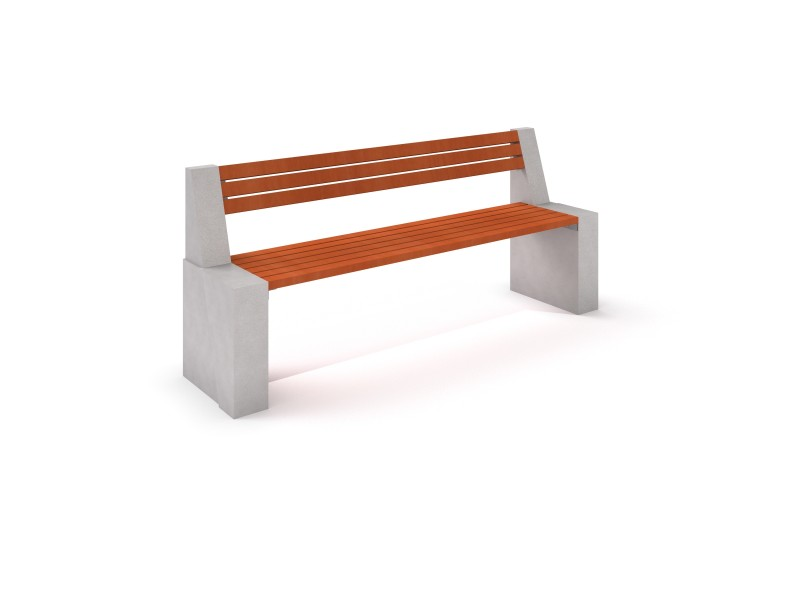DECO white concrete bench 8 PLAYGROUNDS