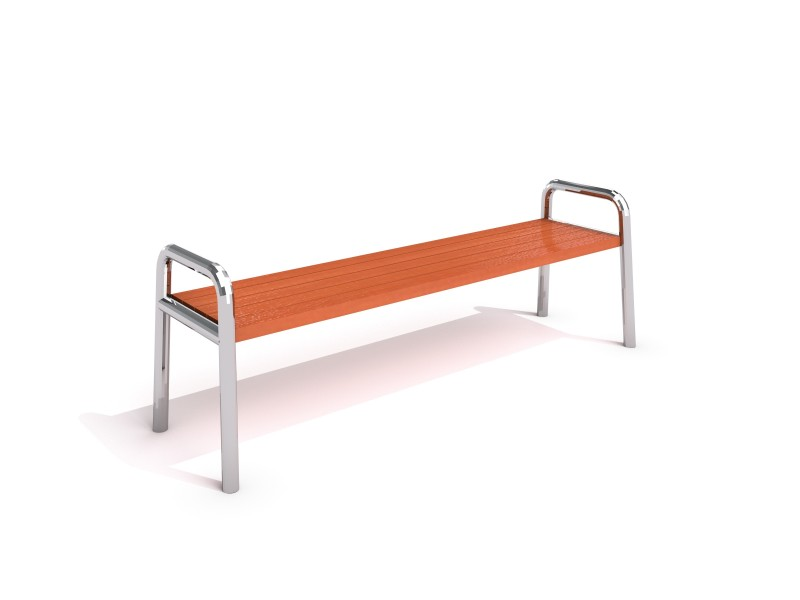 Stainless steel bench 02 PLAYGROUNDS