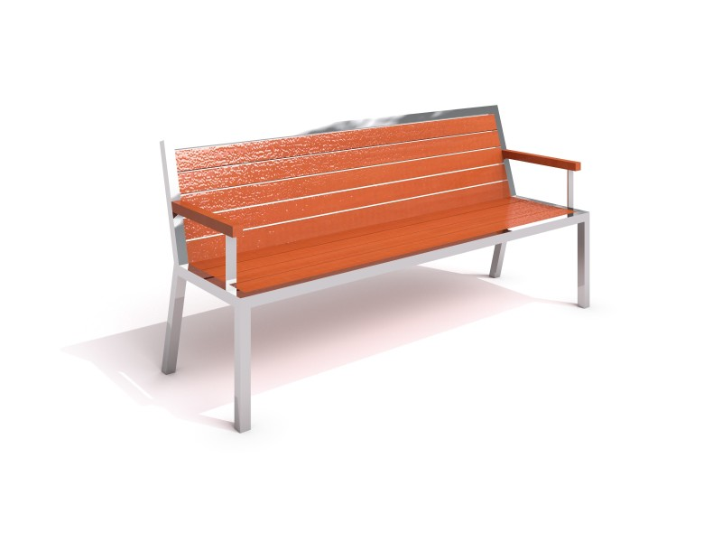 Stainless steel bench 20 PLAYGROUNDS