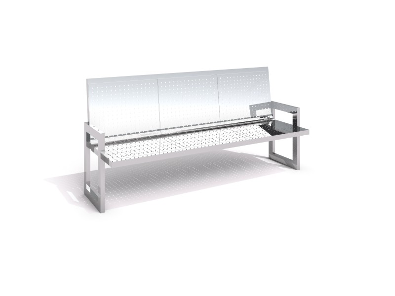 Stainless steel bench 09 PLAYGROUNDS