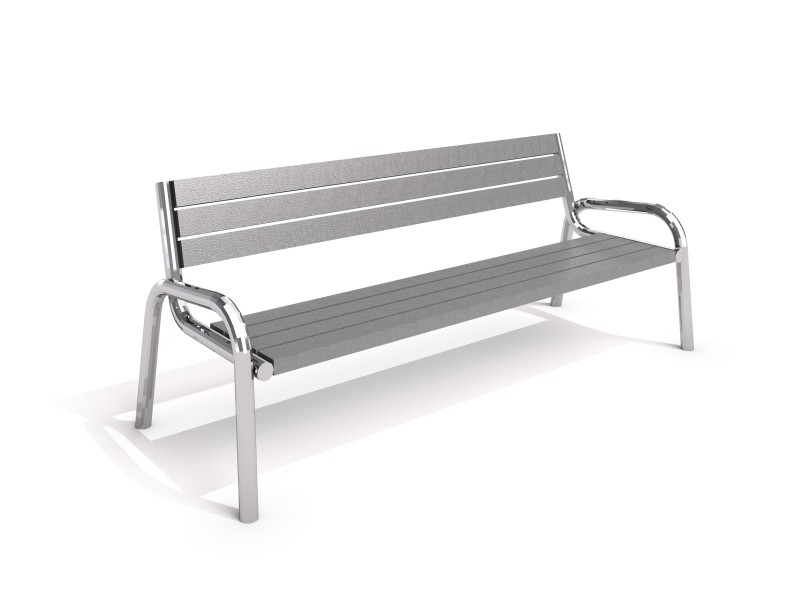 Stainless steel bench 13 PLAYGROUNDS