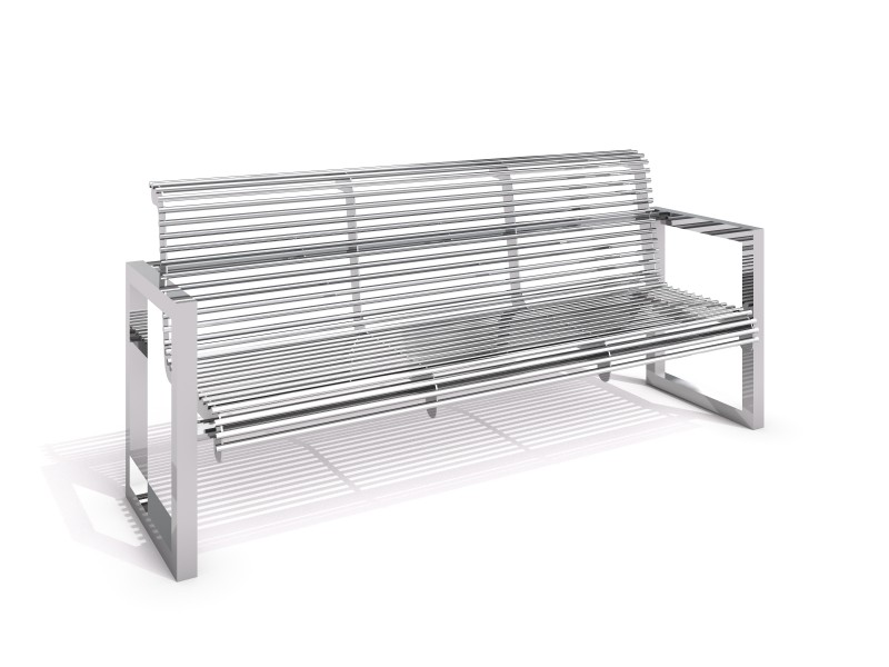 Stainless steel bench 19 PLAYGROUNDS