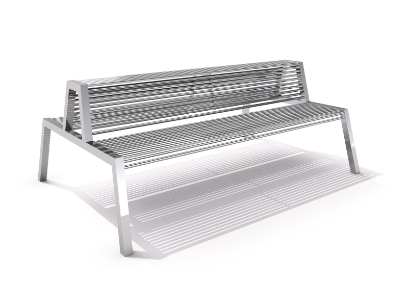 Stainless steel bench 01 PLAYGROUNDS