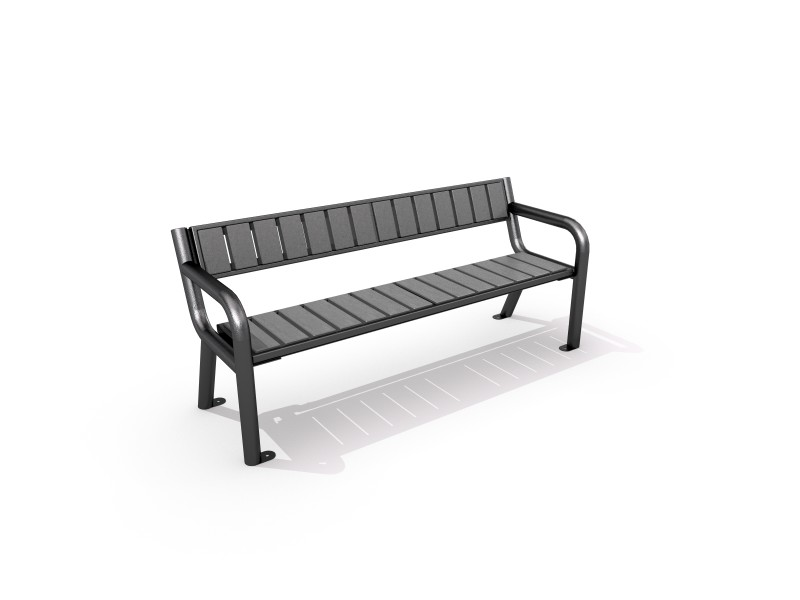 Steel bench 02 PLAYGROUNDS