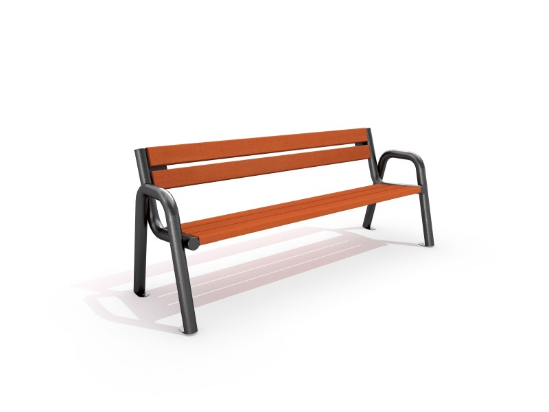 Playground Equipment for sale Steel bench 03 Professional manufacturer