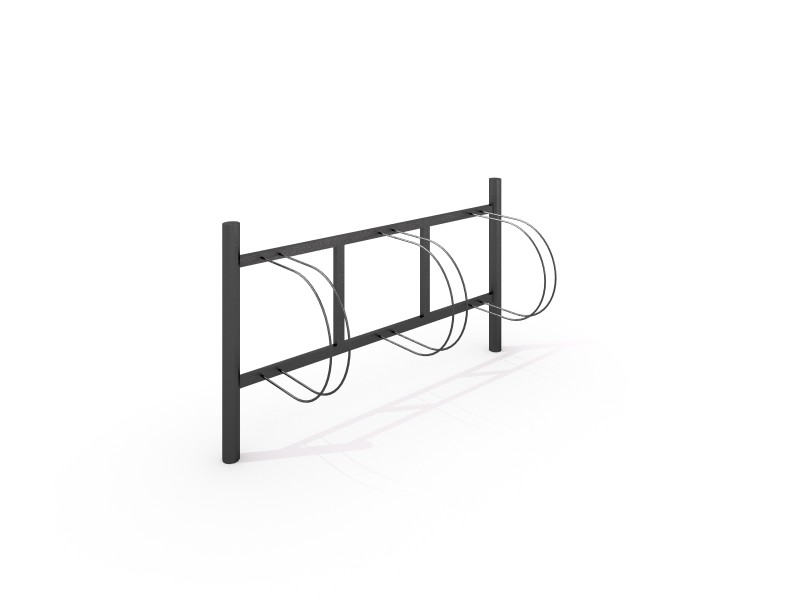 Steel bicycle rack 04 PLAYGROUNDS
