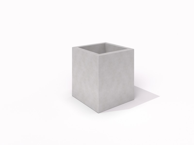 DECO white concrete planter 06 PLAYGROUNDS