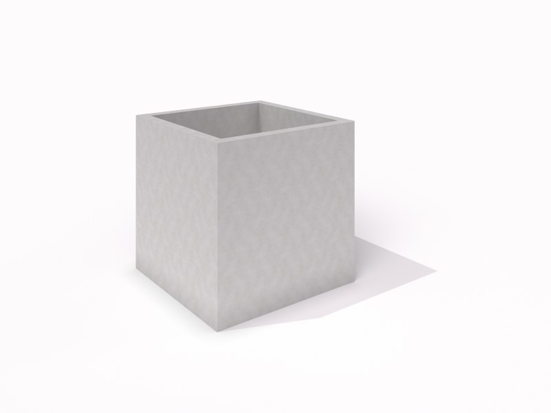 DECO white concncrete planter 05 PLAYGROUNDS