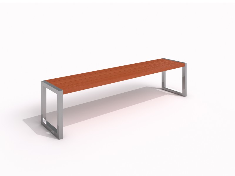 Stainless steel bench 05 PLAYGROUNDS