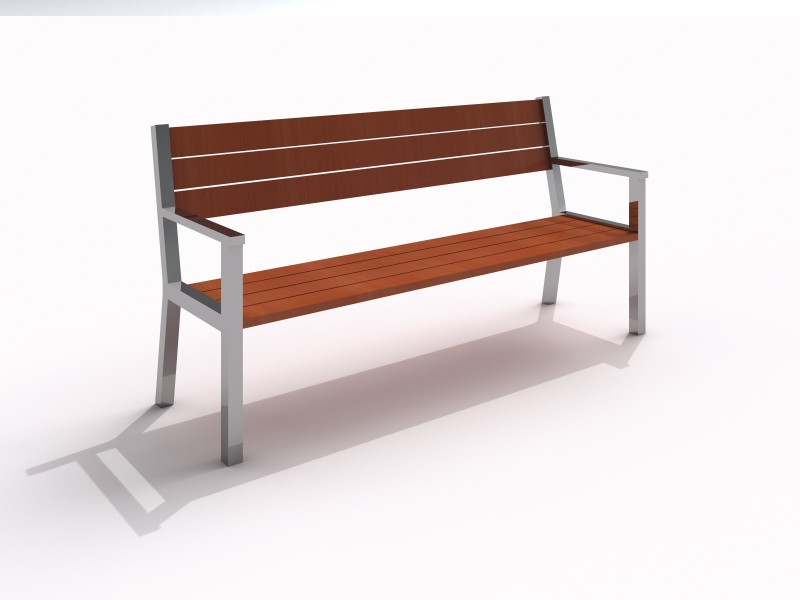 Stainless steel bench 06 PLAYGROUNDS