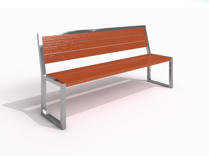 Stainless steel bench 03 PLAYGROUNDS