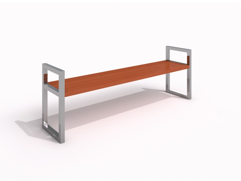 Stainless steel bench 04 PLAYGROUNDS