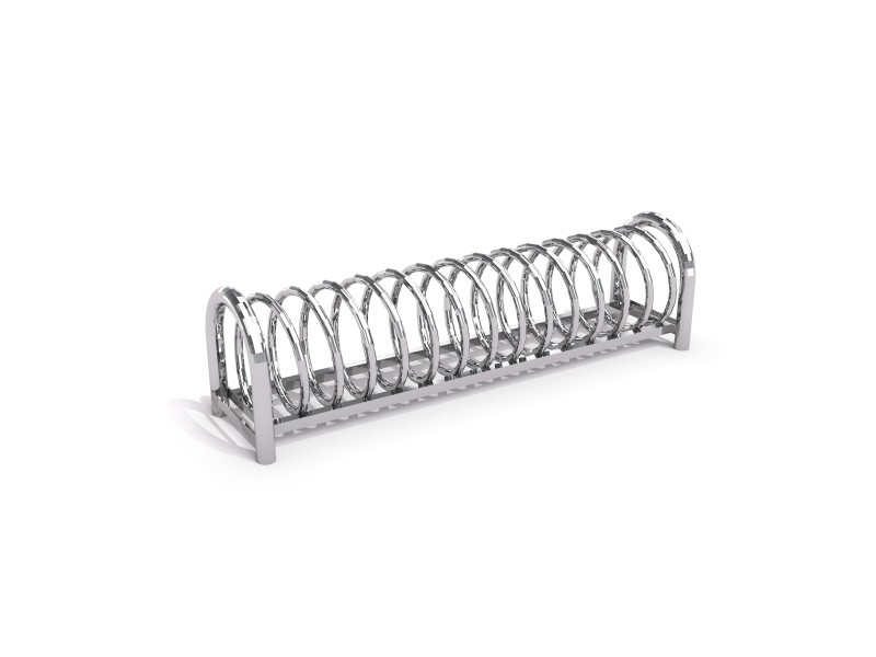 Steel bicycle rack 12
