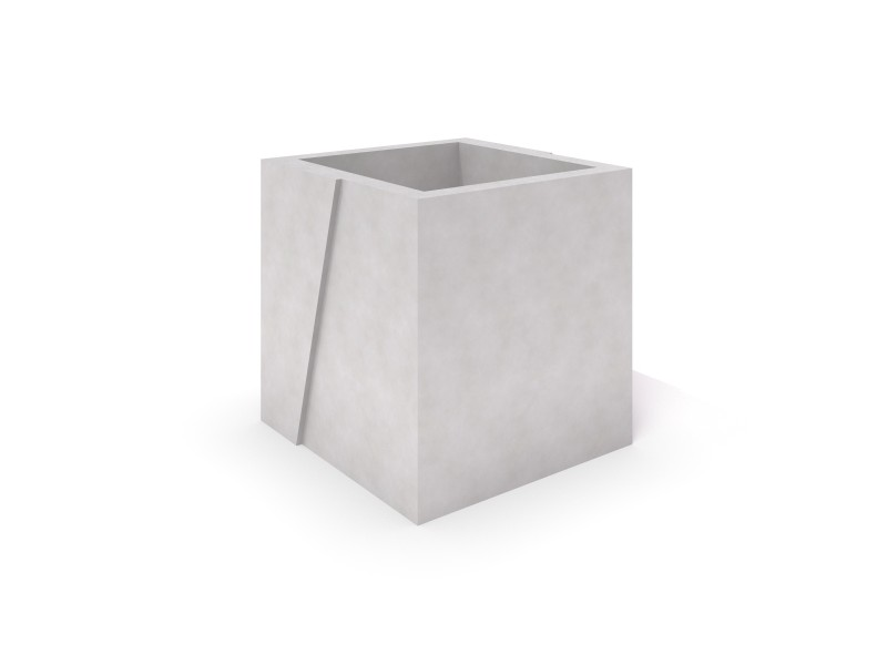 DECO white concrete planter 07 PLAYGROUNDS