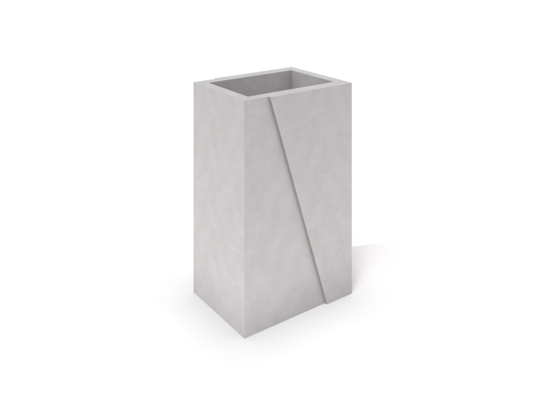 DECO white concrete planter 01 PLAYGROUNDS